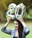 Schöne Mädchen 20 glückliche Frauen des Mädchenspaßes Lizenzfreies Stockbild