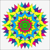 Schöne Mandala auf einem weißen Hintergrund Stockbilder
