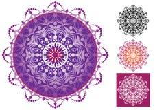 Schöne Mandalaverzierungen Lizenzfreies Stockbild