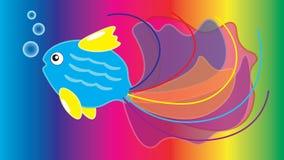 Schöne mehrfarbige Fische mit einem großen Endstück Lizenzfreie Stockbilder