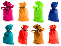 Schöne mehrfarbige Säcke Stockfotos