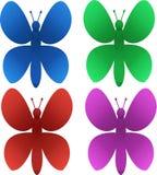 Schöne mehrfarbige Schmetterlinge vektor abbildung