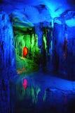 Schöne mehrschichtige Karsthöhle Stockfotografie
