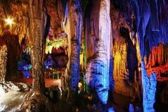 Schöne mehrschichtige Karsthöhle Stockbild