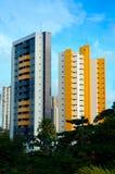 Schöne mit Ziegeln gedeckte Gebäude Lizenzfreies Stockfoto