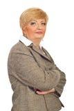 Schöne mittlere gealterte Geschäftsfrau Stockfotos
