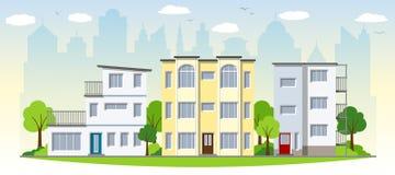 Schöne moderne Häuser lizenzfreie abbildung