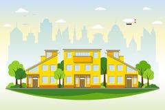 Schöne moderne Häuser stock abbildung