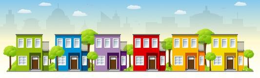 Schöne moderne Häuser vektor abbildung