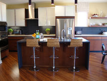 Schöne moderne Küche Stockfoto