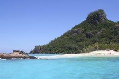 Schöne Modriki-Insel, Fidschi lizenzfreie stockfotografie