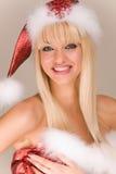 Schöne Mrs Weihnachtsmann Stockfotografie