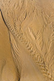 Schöne Muster auf dem Sand Lizenzfreies Stockbild