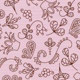 Schöne Muster auf einem rosa Hintergrund Stockfoto
