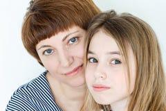 Schöne Mutter und Tochter Stockbild