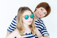 Schöne Mutter und Tochter Stockbilder