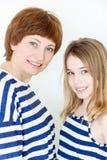 Schöne Mutter und Tochter Lizenzfreies Stockbild