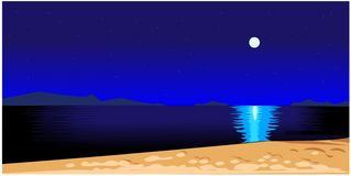 Schöne Nachtlandschaft lizenzfreie abbildung