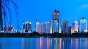 Schöne Nachtlandschaft von Nanhu-Park Stockbilder