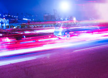 Schöne Nachtstadt Stockfotos