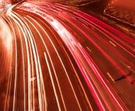 Schöne Nachtstadt in der Bewegung Lizenzfreies Stockfoto