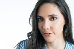 Schöne Nahaufnahme des Gesichtes eines Mädchens stockfotografie