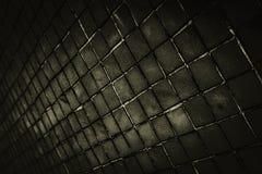 Schöne Nahaufnahme masert abstrakte Fliesen und dunklen schwarzen Farbglasmusterwandhintergrund und Kunsttapete lizenzfreie stockbilder