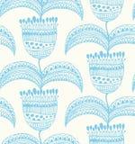 Schöne nahtlose Muster Orientale-mit Blumenstylis Stockfotos