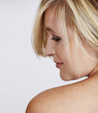 Schöne natürliche Frau Stockfotos