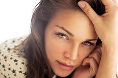 Schöne natürliche Frau Stockfoto