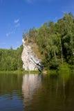 Schöne Natur auf dem Fluss lizenzfreies stockfoto