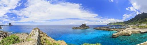 Schöne Natur gestaltet in Orchideen-Insel, Taitung landschaftlich stockbilder