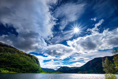Schöne Natur Norwegen Lizenzfreies Stockbild