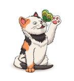 Schöne nette Kätzchenzeichentrickfilm-figur stock abbildung