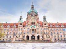 Schöne neue Stadt-Hall Neues Rathaus-Ansicht lizenzfreie stockfotografie