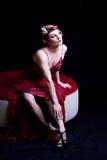 Schöne noble Frau Stockfotos