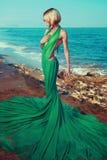 Schöne Nymphe auf dem Meer Stockfotografie