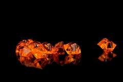 Schöne orange Edelsteine Stockbilder