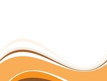 Schöne orange Welle stock abbildung