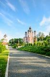 Schöne orthodoxe Kirche Lizenzfreies Stockfoto