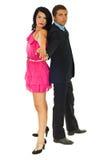 Schöne Paare betriebsbereit zum Tanz stockfotografie