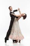 Schöne Paare in der aktiven Standardtanz Lizenzfreie Stockfotografie