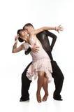 Schöne Paare in der aktiven Standardtanz Lizenzfreies Stockbild