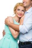 Schöne Paare, die das Umarmen halten Lizenzfreies Stockbild