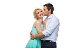 Schöne Paare, die das Umarmen halten Stockfotografie