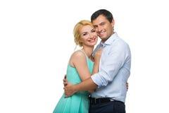 Schöne Paare, die das Umarmen halten Lizenzfreie Stockbilder