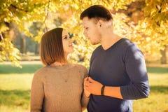 Schöne Paare unter dem Baum stockfoto