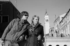 Schöne Paare in Venedig Stockfoto