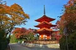 Schöne Pagode in Kyoto lizenzfreies stockbild