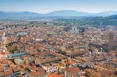 Schöne panoramische Ansicht von Florenz, Italien stockbild